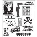 CMS063 Tim Holtz Cling Mounted Stamp Set - Mini Muse
